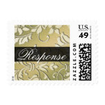 Ivory and Gold Damask Brocade Baroque Postage
