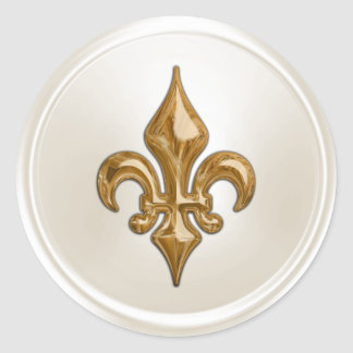 Ivory and Gold  Fleur de Lis Envelope Seal