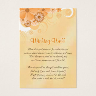 Ivory and Gold Floral Wedding Wishing Well Cards