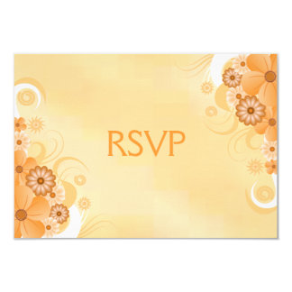 Ivory and Gold Hibiscus Floral RSVP Response Card