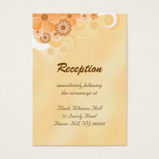 Ivory and Gold Wedding Reception Enclosure Cards