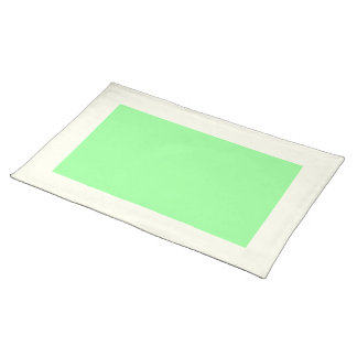 Ivory and Mint Green Placemat