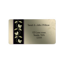 ivory and purple floral address labels