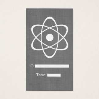 Ivory Atomic Chalkboard Place Card
