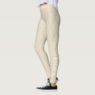 Ivory Awareness Ribbon Art Custom Words Leggings