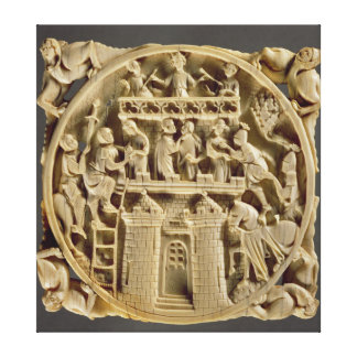 Ivory back of a mirror depicting the God of Love Canvas Print