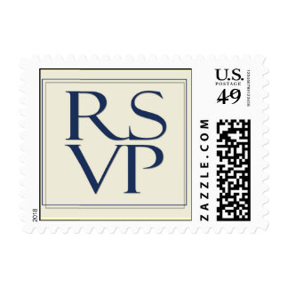Ivory background small RSVP Stamp