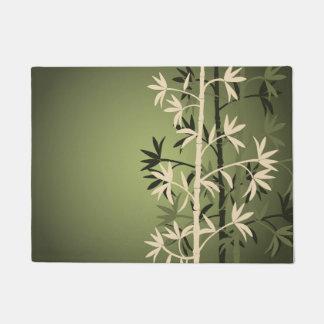 Ivory bamboo green doormat
