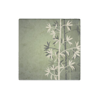 Ivory bamboo green stone magnet
