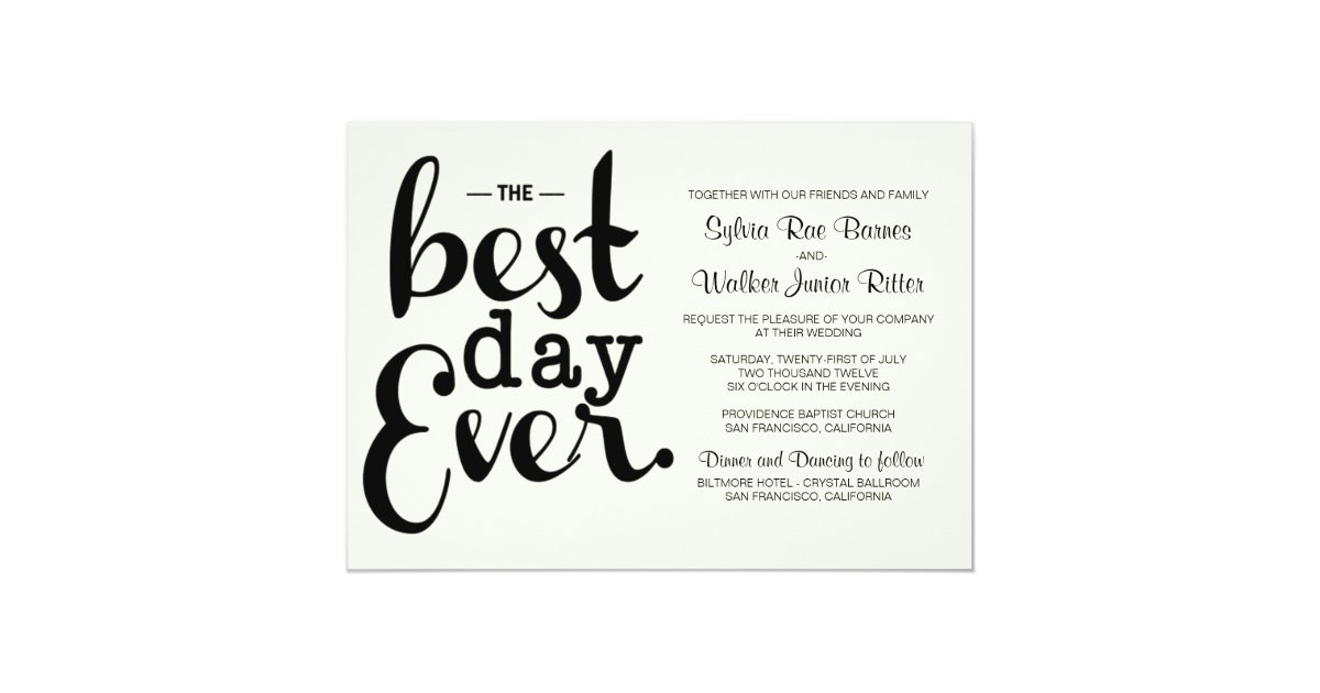 Ivory Best Day Ever Wedding