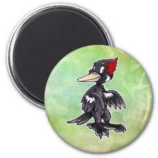 Ivory-Billed Woodpecker 2 Inch Round Magnet
