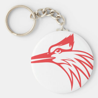 Ivory Billed Woodpecker Looking Out Keychain