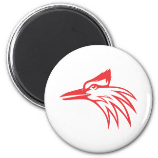 Ivory Billed Woodpecker Looking Out Magnet