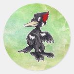 Ivory-Billed Woodpecker Round Sticker