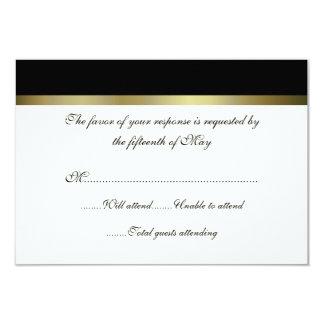 Ivory & Black All Purpose Wedding Response Card