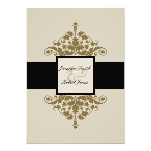 Black And Gold Wedding Invitations 034 - Black And Gold Wedding Invitations