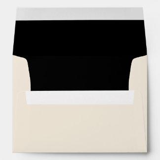 Ivory Black Envelope