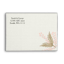 ivory blush gold floral envelope