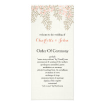 ivory blush gold floral wedding programs
