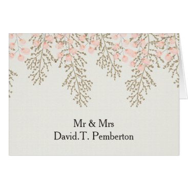 ivory blush gold Guest Wedding Place Cards