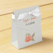 ivory blush gold wedding favor box