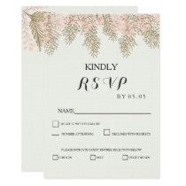 ivory blush gold wedding RSVP cards