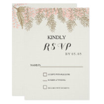 ivory blush gold wedding RSVP cards