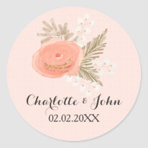 ivory blush gold wedding stickers