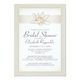 "Ivory Bridal Shower Invitations 5"" X 7"" Invitation Card"
