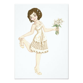 Ivory Bride 5x7 Paper Invitation Card