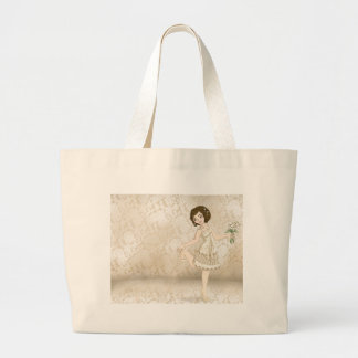 Ivory Bride Tote Bags