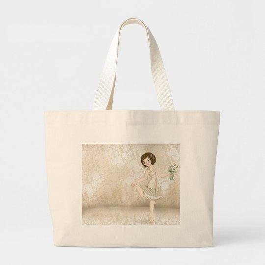 Ivory Bride Large Tote Bag