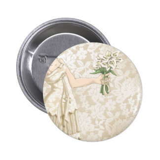 Ivory Bride Pinback Button