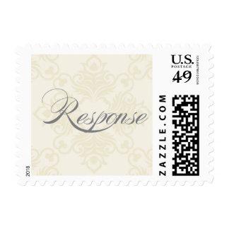 Ivory brocade response stamp