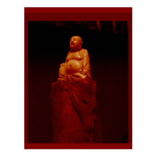 Ivory Buddha Sculpture Medittation aid by Sharles Postcard