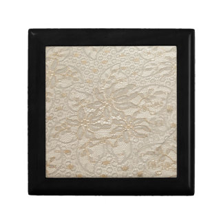 Ivory Chantilly Lace Keepsake Box