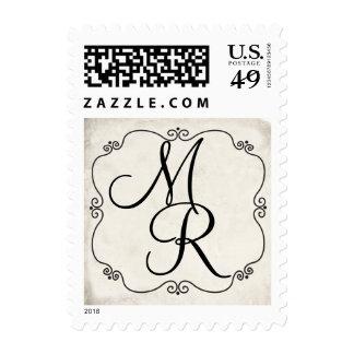 Ivory Chic Vintage Inspired Monogram Stamps
