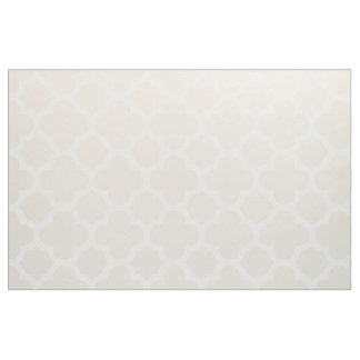 Ivory Classic Quatrefoil Pattern Fabric