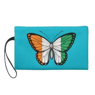 Ivory Coast Butterfly Flag Wristlet Purse