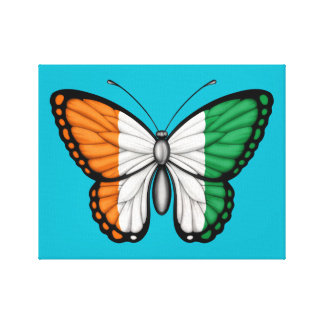Ivory Coast Butterfly Flag Stretched Canvas Print