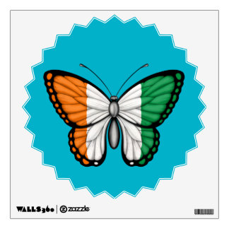 Ivory Coast Butterfly Flag Wall Skins