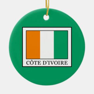 Ivory Coast Ceramic Ornament