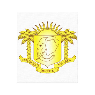 Ivory Coast Coat Of Arms Gallery Wrap Canvas