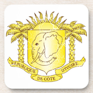 Ivory Coast Coat Of Arms Drink Coaster
