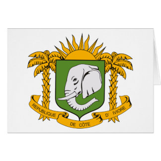 Ivory Coast Coat of Arms Greeting Card