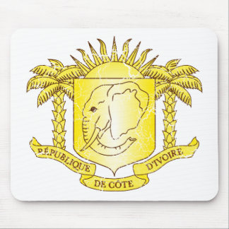 Ivory Coast Coat Of Arms Mouse Pad