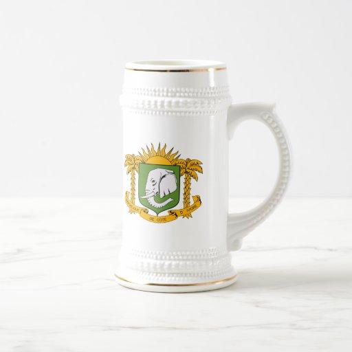 Ivory Coast Coat of Arms Mug