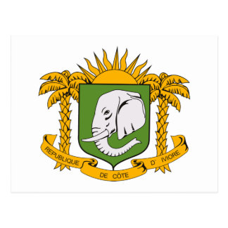 Ivory Coast Coat of Arms Postcard