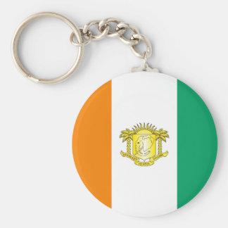 Ivory Coast - Côte d'Ivoire Basic Round Button Keychain
