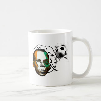 Ivory coast côte d'ivoire face soccer lovers gifts coffee mug